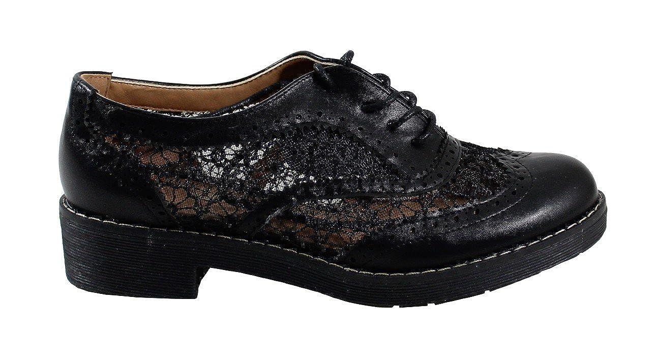 By Stringate Shoes Scarpe Stringate By Basse Donna  Nero 8893a9