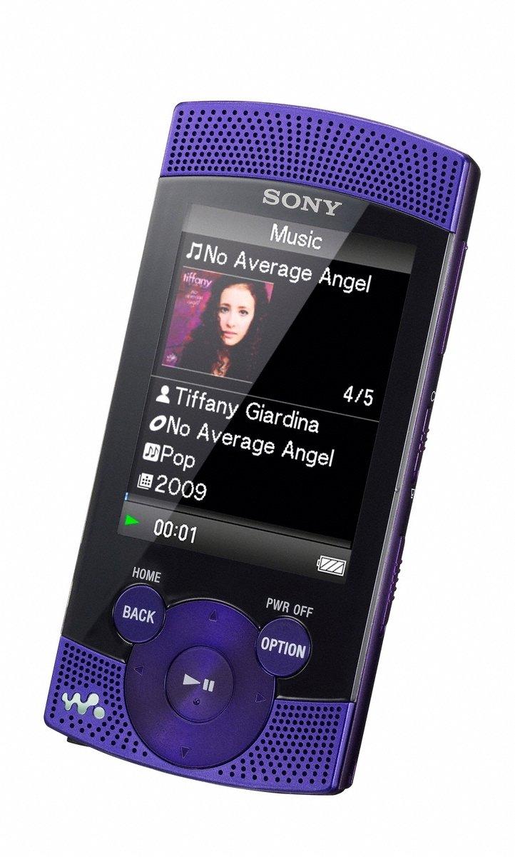 amazon com sony s 544 8 gb walkman video mp3 player violet home rh amazon com Sony Nwz E436F Cable Sony Nwz- Zx2