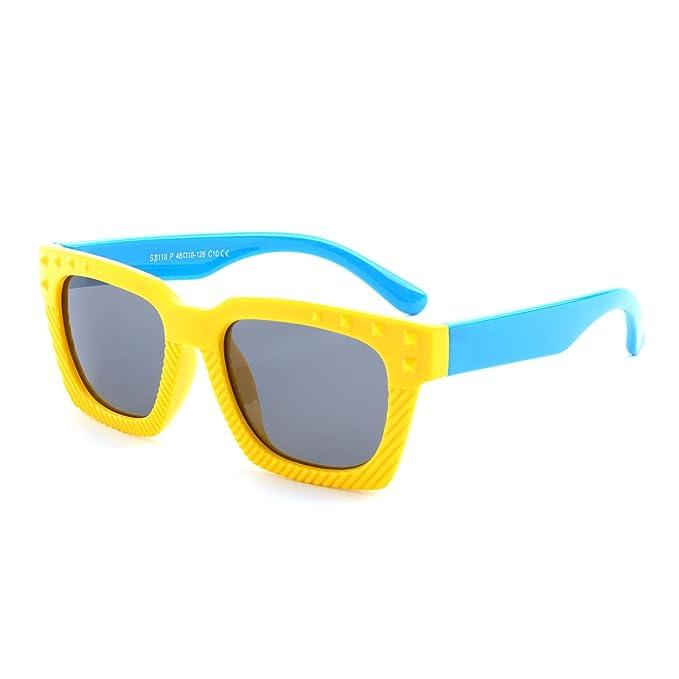 GQUEEN Gafas de sol polarizadas flexibles de goma para niños y infantes de 3 -7