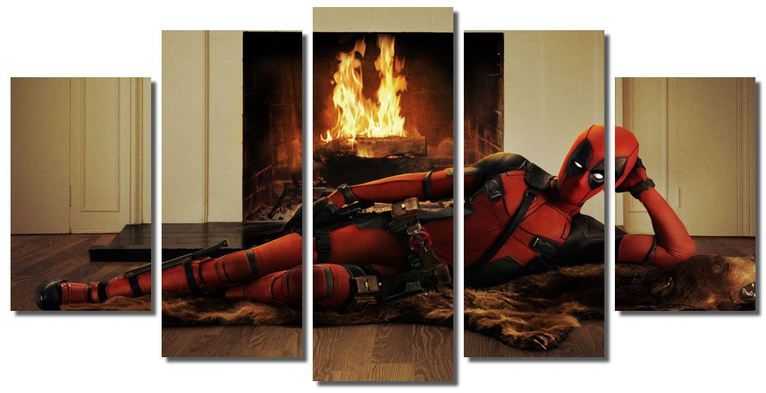 Amazon.com: Picture Sensations Framed Canvas Art Print, Deadpool ...