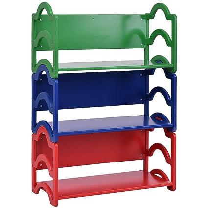 Amazon Costzon Kids Bookshelf 3 Shelf Storage Rack Toy
