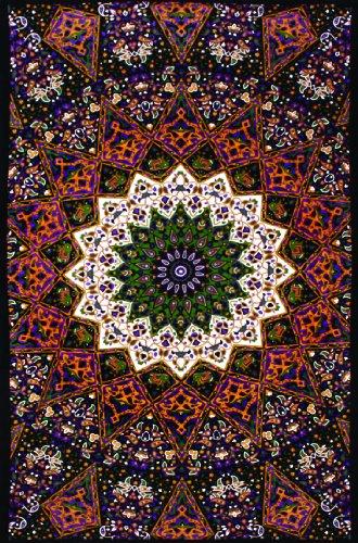 Sunshine Joy Indian Dark Star Elephant Tapestry - 30x45 Inches - Beach Sheet - Hanging Wall Art - 3D Reactive Artwork