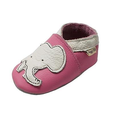 8539e590e0b5b YIHAKIDS Chaussure en Cuir Souple Chaussons Pour Enfant Bébé Garçon Fille  Premiers Pas Chaussons Semelle Douce
