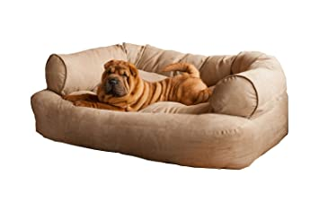 Good Snoozer Overstuffed Luxury Pet Sofa, Large, Buckskin