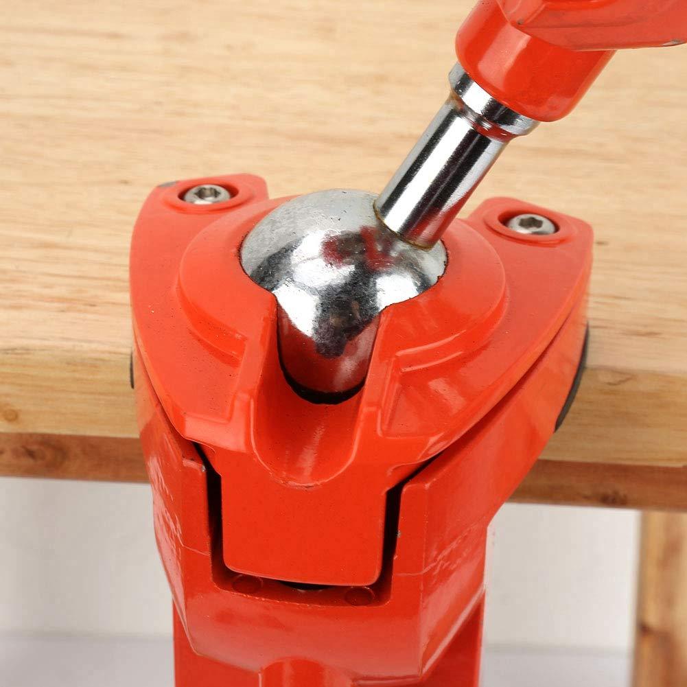 Mini /étau de Serrage /étau de Table D/étau de Table de Vice-perceuse avec Joints en Caoutchouc Antid/érapants pour Boiserie Pince de Table /à M/âchoire R/églable en Aluminium Rotative /à 360 /° de 70 mm
