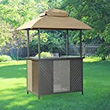 Garden Winds Replacement Canopy Top Cover for the Bar Shelter Gazebo - RipLock 350