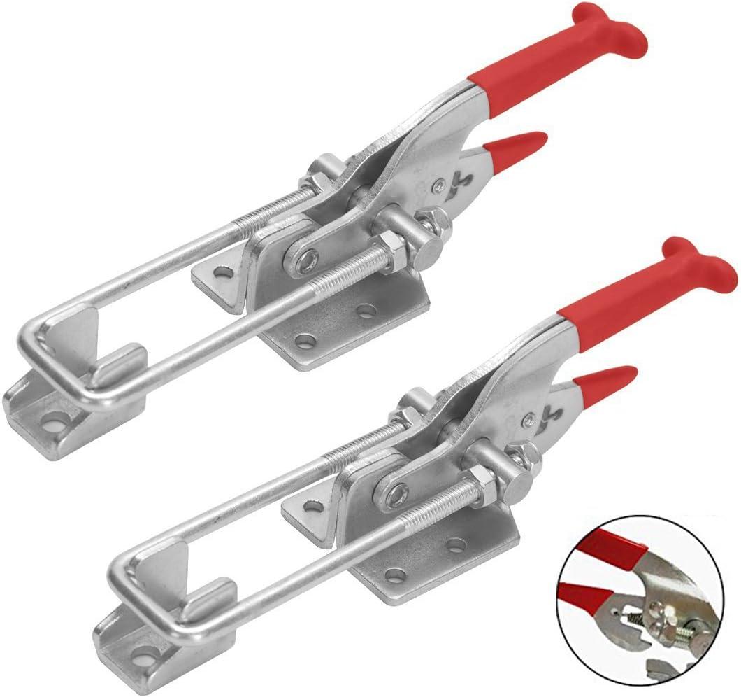 COOLOGIN 2000lbs Capacity Heavy Duty Adjustable Latch U Bolt Self-lock Toggle 2