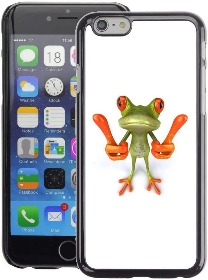 Planetar® (Smart Frog Funny Cartoon Minimalist White Apple iPhone 6 / 6S (4.7 Inches!!!) Fundas Cover Cubre Hard Case Cover: Amazon.es: Electrónica