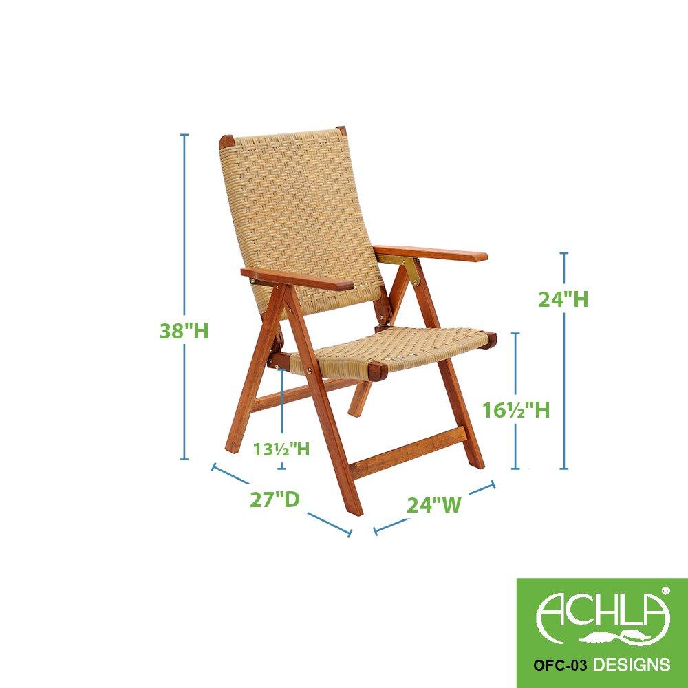 Amazon.com: Achla diseños Poly Weave – Silla plegable ...
