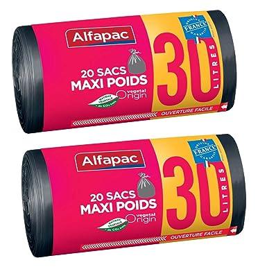 Alfapac - Bolsas de basura biodegradables, maxi, 2 rollos de ...
