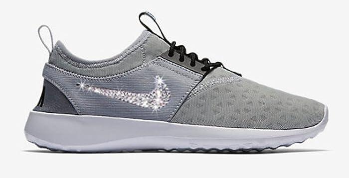 Womens Grey Nike Juvenate blinged out, Swarovski Nike shoes, Bling Nikes,  Rhinestone Nike