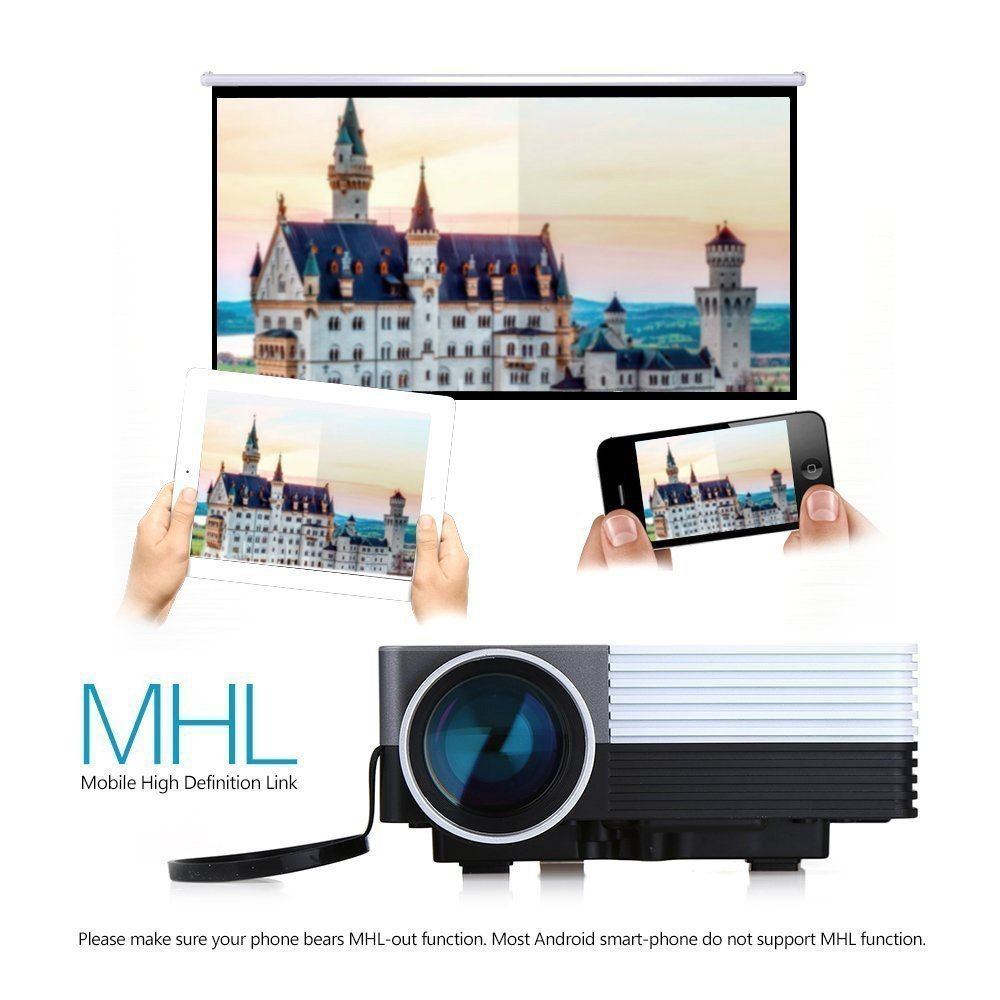 amazon com multi media gm50 mini led projector hd lcd home cinema