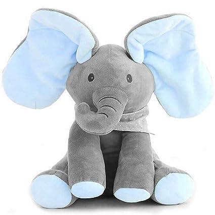 Uni-Wert Peek-A-Boo Elefante De Peluche Juguete In...