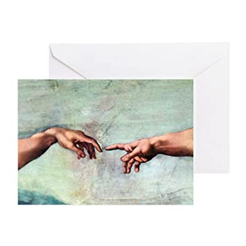 cafepress creation of adam greeting cards pk of 10 greeting card