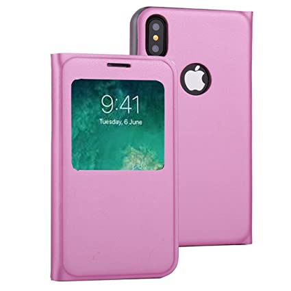new products 859ee 1333c Amazon.com: Covers for iPhone X,Litchi Texture Horizontal Flip ...