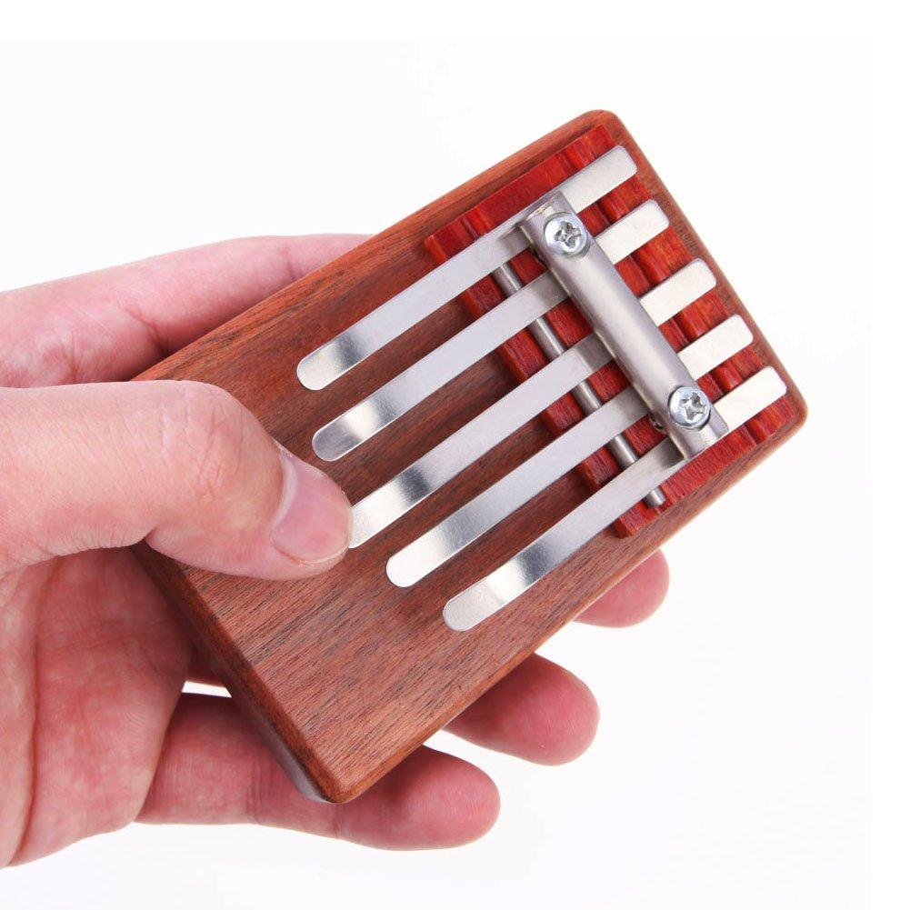 Chinatera 5 Key Kalimba Mbira Likembe Sanza Finger Thumb Piano Rosewood Instrument