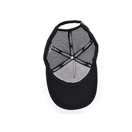 8haowenju Gorra, gorra de béisbol con visor Four Seasons en blanco y negro, versión coreana del sombrero para el sol de la juventud, gorra salvaje ocasional ...