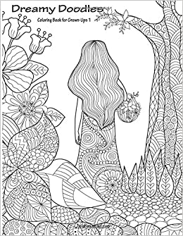 amazoncom dreamy doodles coloring book for grown ups 1 volume 1 9781537652146 nick snels books - Coloring Books For Grown Ups