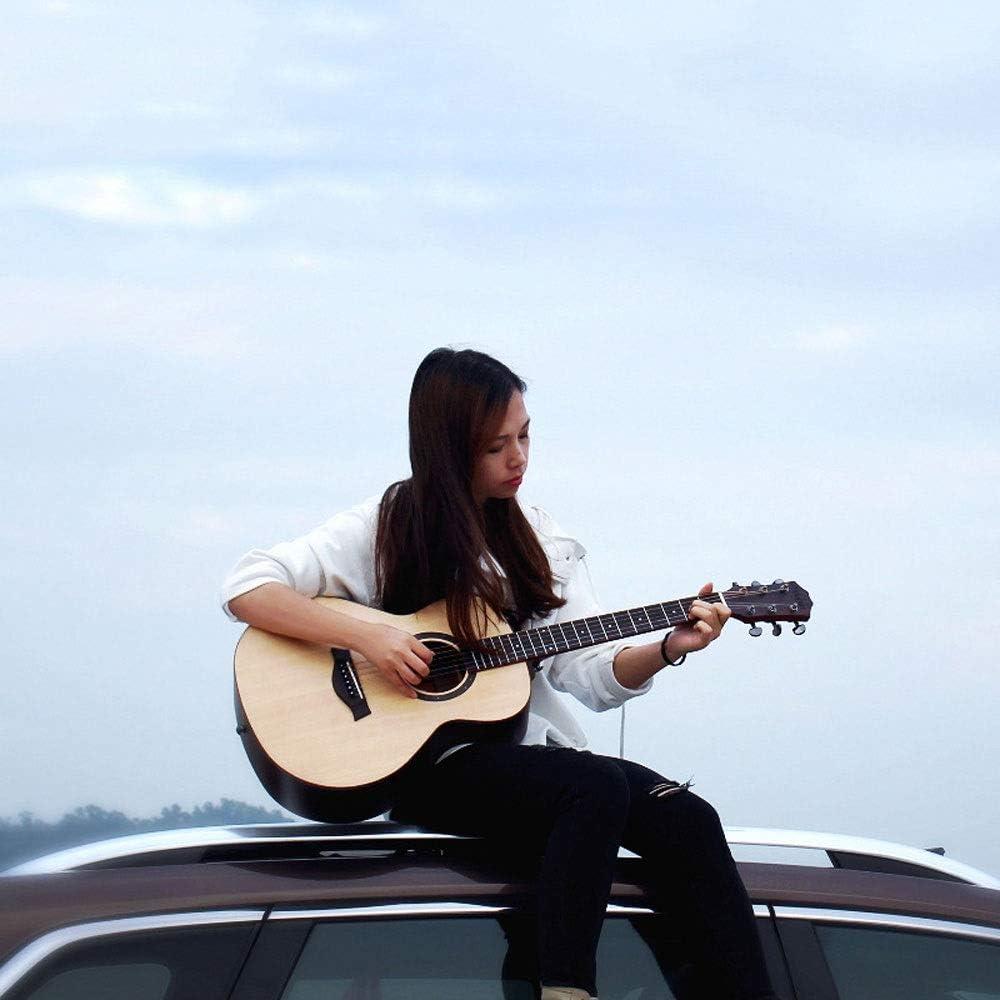 Baeoy Guitarra viaje de 36 pulgadas guitarra acústica Spruce paneles Guitarra Junta Panel simple palo de rosa laterales 6 Cuerda de Acero Encorvadura guitarras acústicas for Adultos Profesional Princi