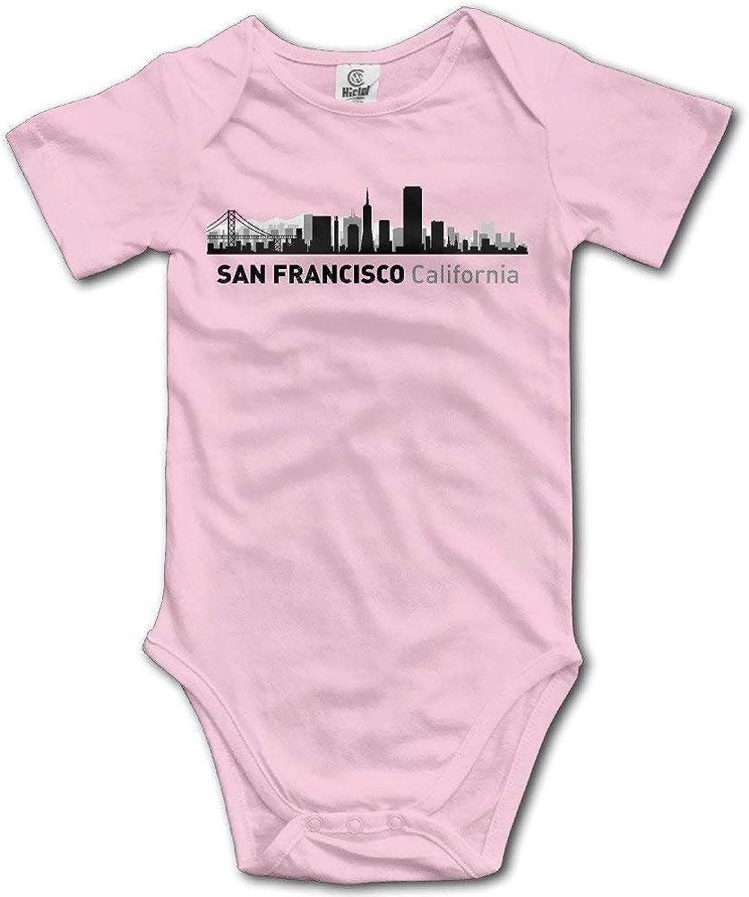 qidushop San Francisco California City Silhouette Colore Tutina per Neonato Rosa