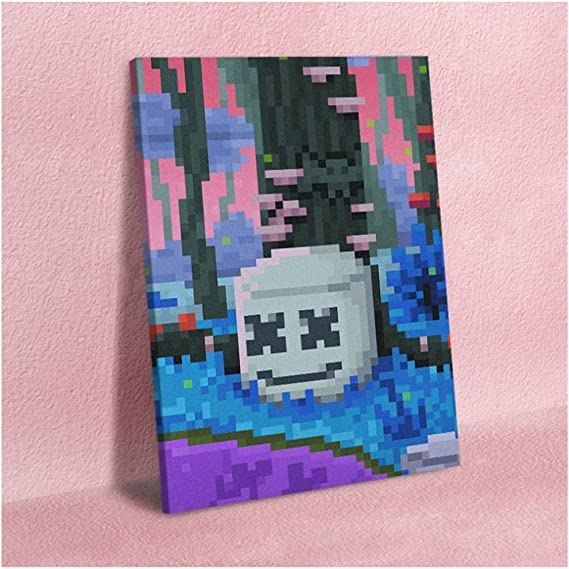 Marshmello Canvas Wall A2 A1 A0 Large Gift Present SS0844