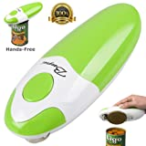 BangRui Smooth Soft Edge Electric Can Opener with One-Button Start and One-Button Manual Stop (Green)