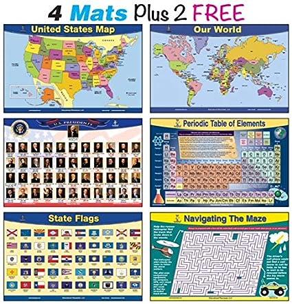 Amazon Brainymats Educational Kids Placemats Explorer