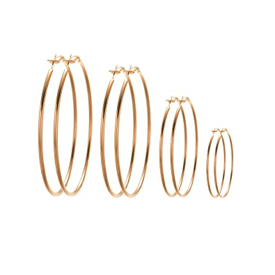 Party Gold Silver Circle T Bar Earring Triangle Geometric Earring 4pairs//set