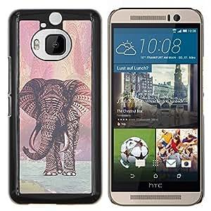 Dragon Case - FOR HTC One M9+ / M9 PLUS - reindeer red pattern Christmas xmas - Caja protectora de pl??stico duro de la cubierta Dise?¡Ào Slim Fit