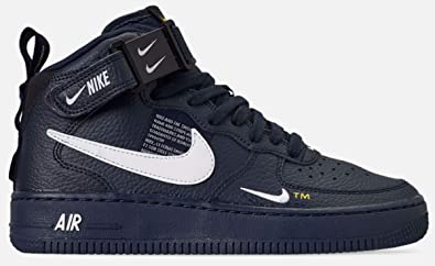 Amazon.com | Nike Air Force 1 Mid Lv8 (gs) Big Kids Av3803 ...