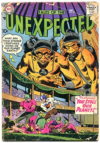 Tales Of The Unexpected #20 1957- Football cover- DC Silver Age G