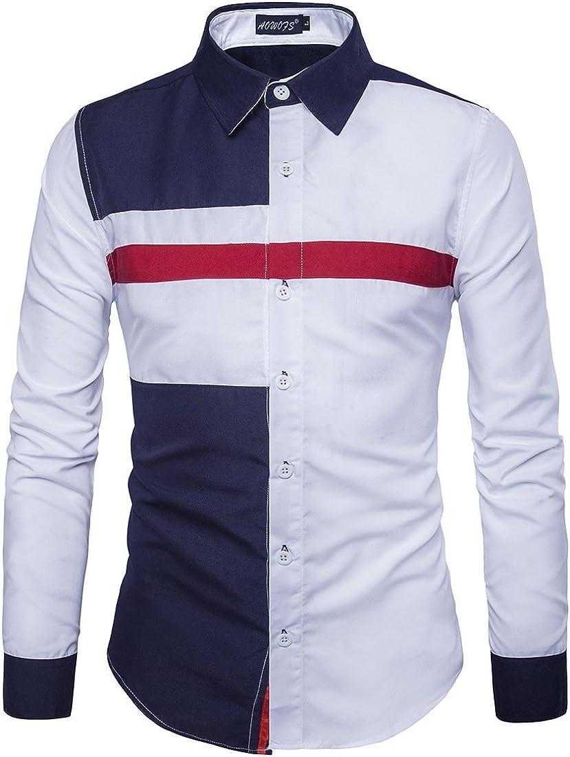 Costura De Tres Colores para Hombres Camisa De Manga Larga, Camisa Color De Moda, Fashion Men S Wear, Cuerpo Blanco Azul Hechizo, XXL: Amazon.es: Ropa y accesorios