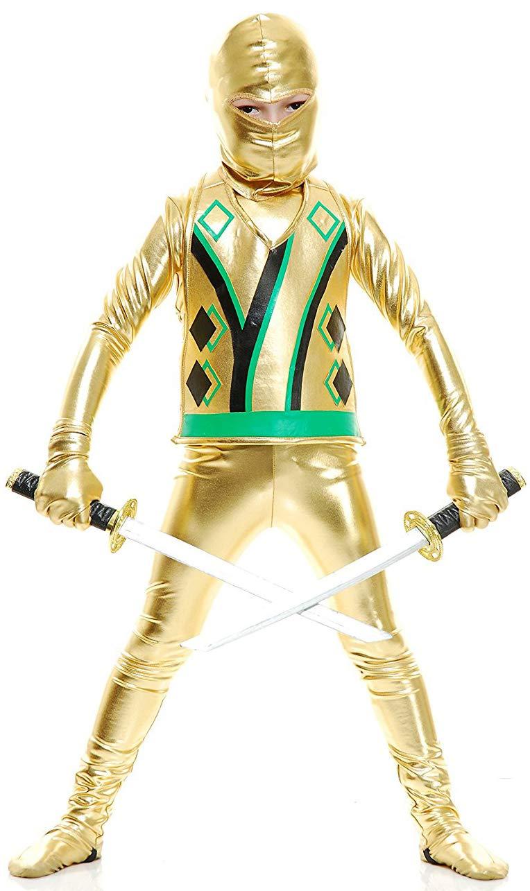 Charades Kid's Ninja Avengers Series III Childrens Costume, Gold, X-Large