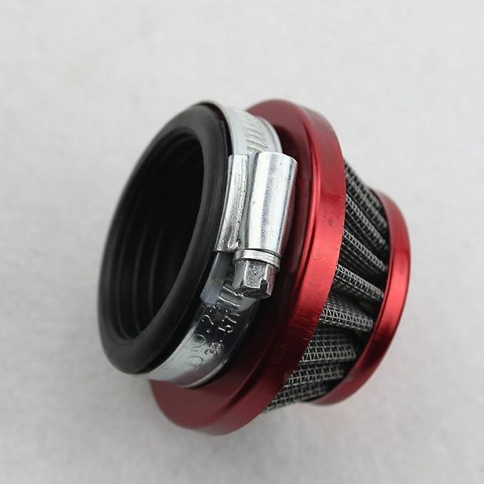 GOOFIT 44mm Filtro de Aire para GSR40 G23lh 2 Tiempos 43cc 47cc 49cc Pocket Bike Quad Desbrozadora Dirt Pit Bike Super Bike Motocross ATV Rojo: Amazon.es: ...