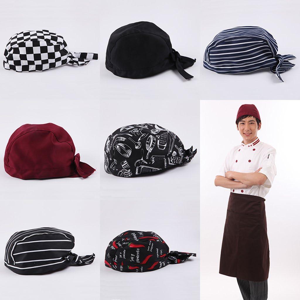 KESOTO Cappello Unisex da Cuoco in Cotone Berretto da Chef Barista e Panettiere