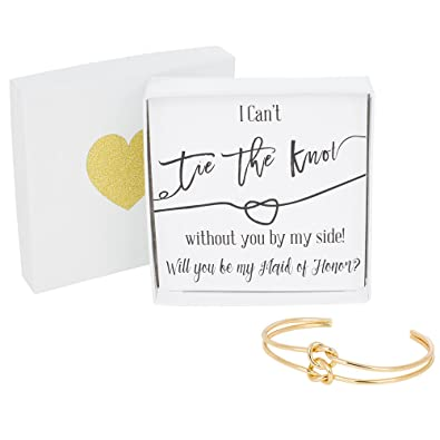 Amazon Bridesmaid Gifts Tie The Knot Maid Of Honor Cuff