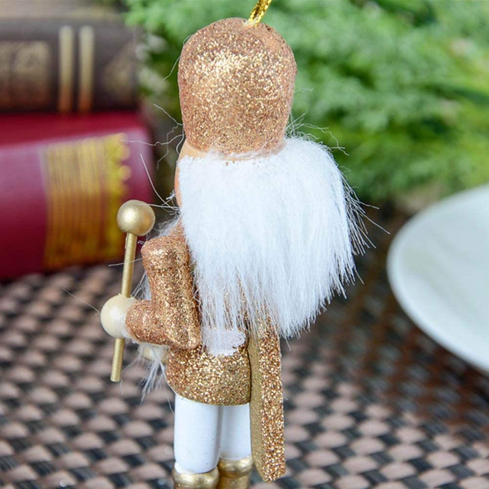 lingzhuo-shop 5 St/ück Set 2019 Neu Nussknacker Soldat Figuren Puppen Holz Puppe Figur Festliche Weihnachts Deko 12CM Glitter Powder Classic