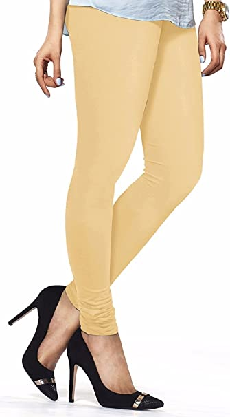 Amazon.com: Ladyline Churidar Leggings de algodón liso para ...