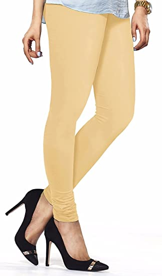 d1aa5eb8b0 Plain Colours 4-Way Stretch Cotton Lycra Leggings Soft Yoga Pants Tights  Churidar