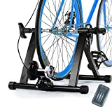Magnetic 8 Levels Resistance Turbo Trainer For Bike w Front Wheel Block & Quick Release Skewer