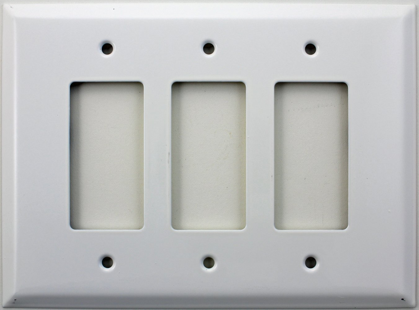Over Sized Jumbo Smooth White Three Gang GFI/Rocker Switch Plate ...