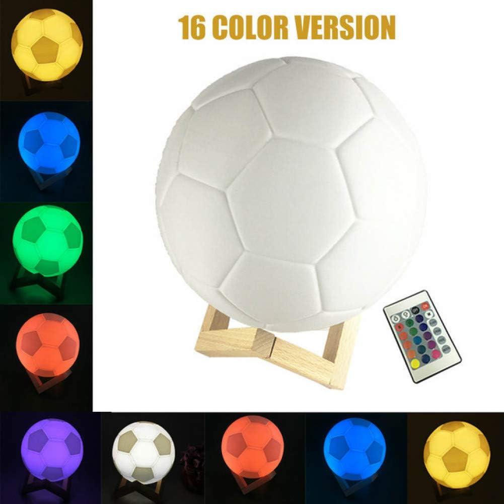 Lnhyx - Lámpara de noche para niños, diseño de futbolín, lámpara ...