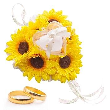 Amazon.com: Amor - Anillo de boda, almohada, anillo de ...