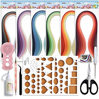 Juya Paper Quilling Kits with 30 Colors 600 Strips and 8 Tools