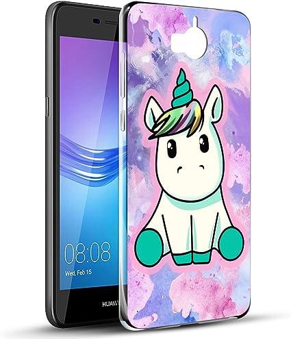 Coque Huawei Y6 2017, Eouine Etui en Silicone 3D Transparente avec Motif Fun Fantaisie Dessin [Anti Choc] Souple Gel TPU Housse Coque Telephone pour ...