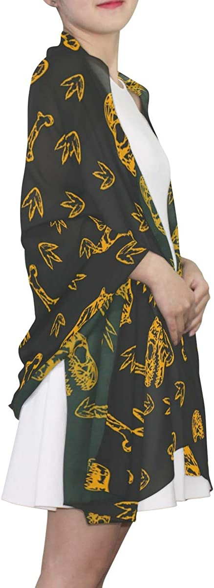 EELa Long Shawl for Women Dinosaurs Pattern Printed Wrap 70x35 inches