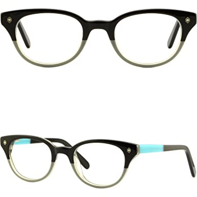 b4f2c411122 Image Unavailable. Image not available for. Color  Children s Girls Guys  Frame Acetate Teens Eyeglasses Glasses Spring Hinges Black