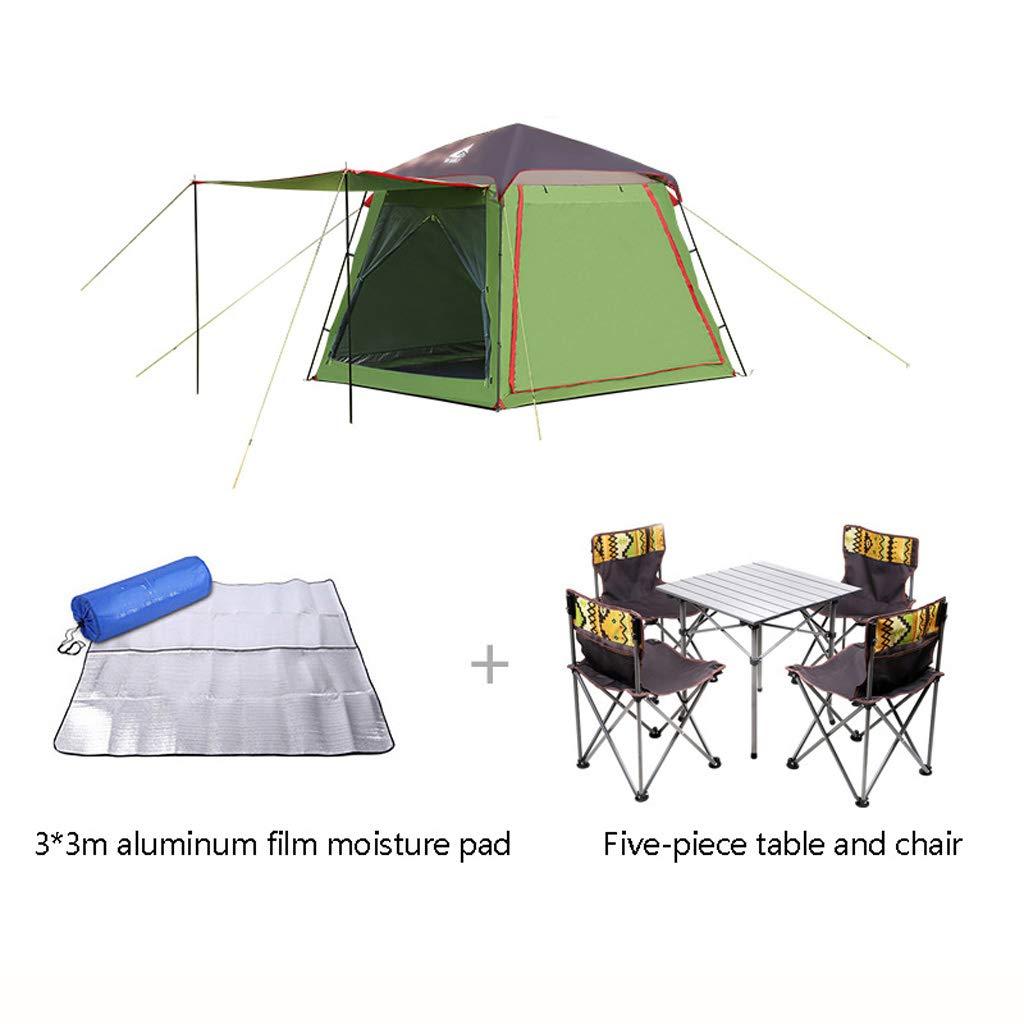 L tent 5-8 Personen Family Camping Zelt,Eine TüR DREI Fenster -Maschengarn und Foyer Design,Wasserabweisend & UV-Schutz Sonnenschutz,füR Strand Camping Wandern