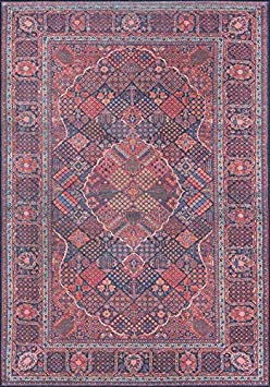 Momeni Rugs AFSHAAFS10NVY2376 Afshar Traditional Medallion Area Rug x, 2'3' x 7'6' Runner, Navy Blue