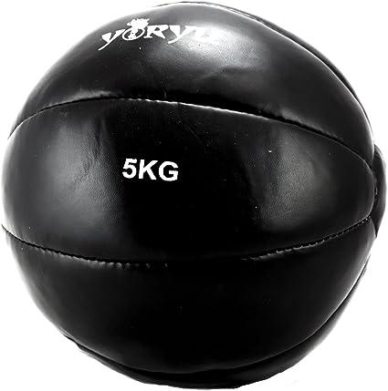 Balón medicinal Yoryu Crossfit Ball 5 kg. Negro: Amazon.es ...
